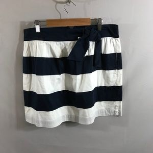 Tommy Hilfiger Navy and White striped skirt